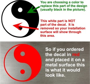 How to choose a color for your decal
