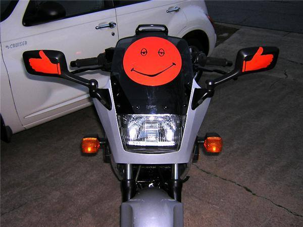 CUSTOM MOTORCYCLE DECALS And MOTORCYCLE STICKERS - Stickers on motorcycles