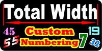 Custom Numbering Decal