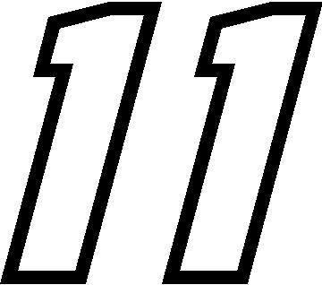 NASCAR Decals :: 11 Race Number Motor Font Decal / Sticker