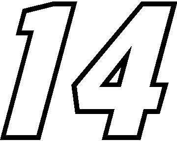 14 NASCAR Number Decals