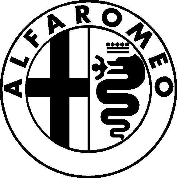 other automotive truck decals alfa romeo decal sticker 02. Black Bedroom Furniture Sets. Home Design Ideas