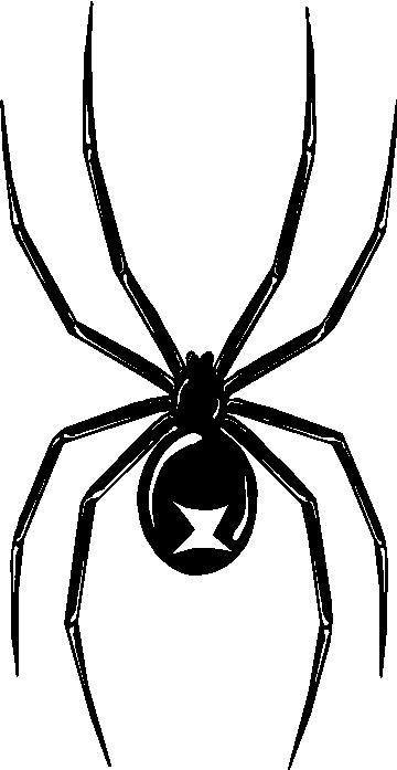 Black Widow Spider Stencil