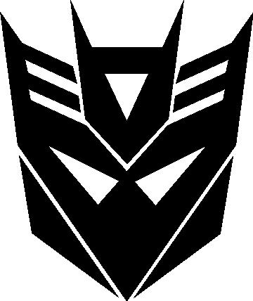 transformers logo stencil cake ideas and designs