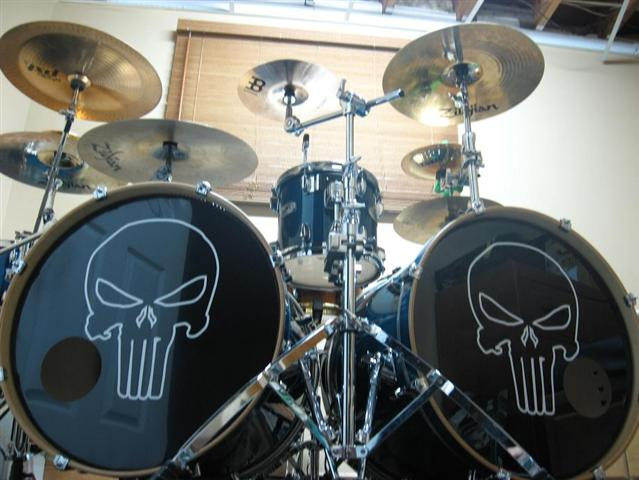 Comic decals and cartoon decals punisher decal sticker 03 for Yamaha bass drum decal