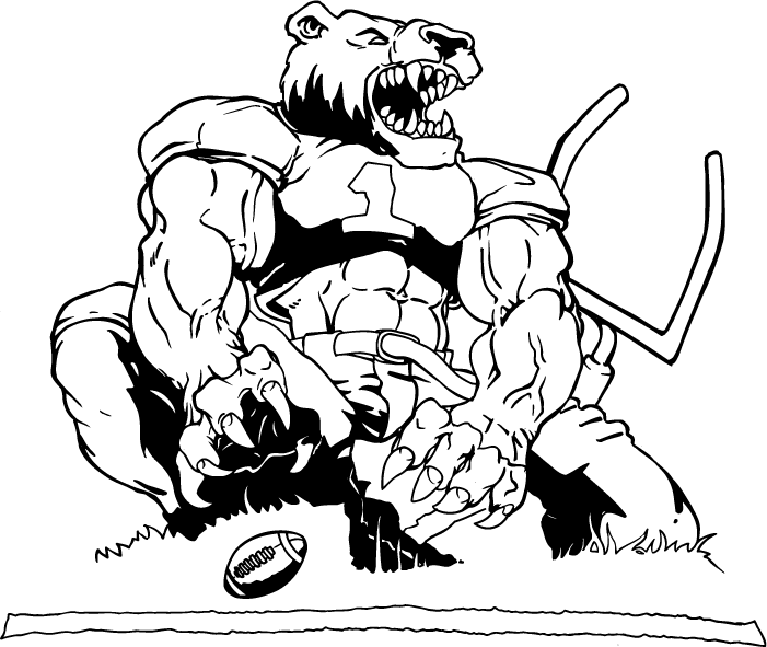 College Football Mascots Coloring Pages Quot College Football Coloring Page