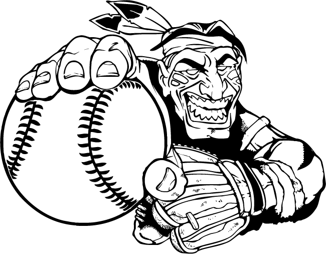 braves mascot coloring pages - photo#29