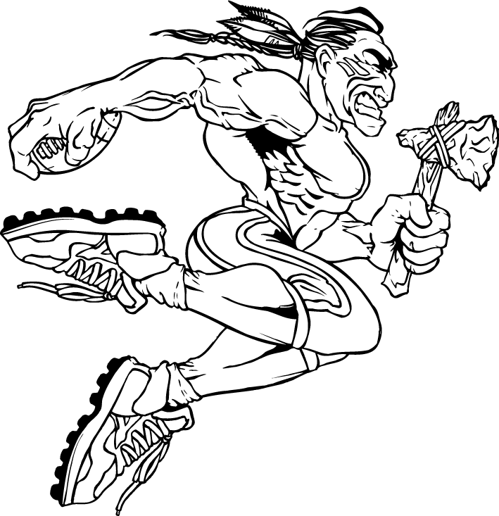 braves mascot coloring pages - photo#19