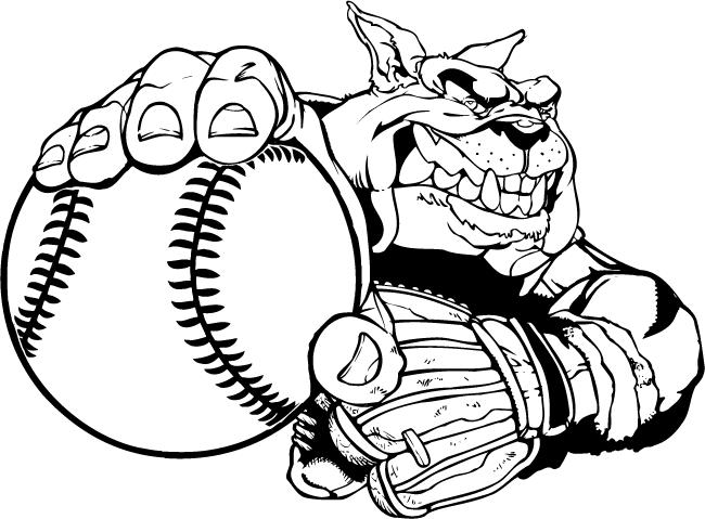 Mascot Decals Bulldogs Mascot Decals Baseball Bulldog Mascot Decal Sticker