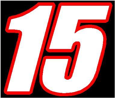 Number 15 15 race number 2 color font
