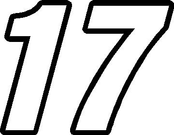 17 Race Number Switzerland Inserant Font Decal Sticker Outline