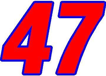 47 Race Number 2 Color Switzerland Font ...