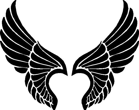 Religious Decals :: Angel Wings Decal / Sticker 05