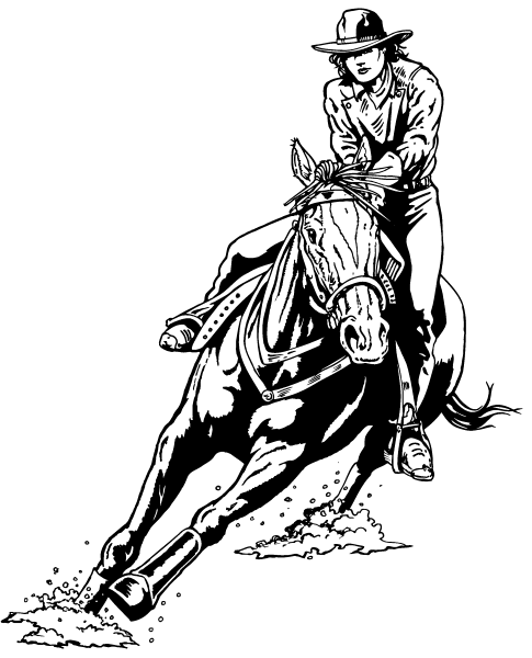 barrel racing horse coloring pages - barrel coloring pages