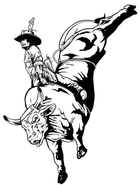 pbr bull coloring pages - photo#15
