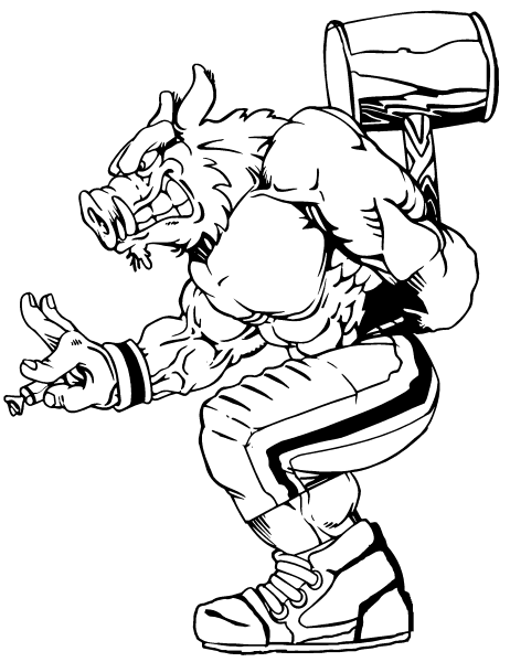 College Mascots Free Coloring Pages College Mascot Coloring Pages