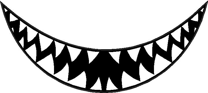 Animal decals shark teeth decal sticker for Shark teeth template