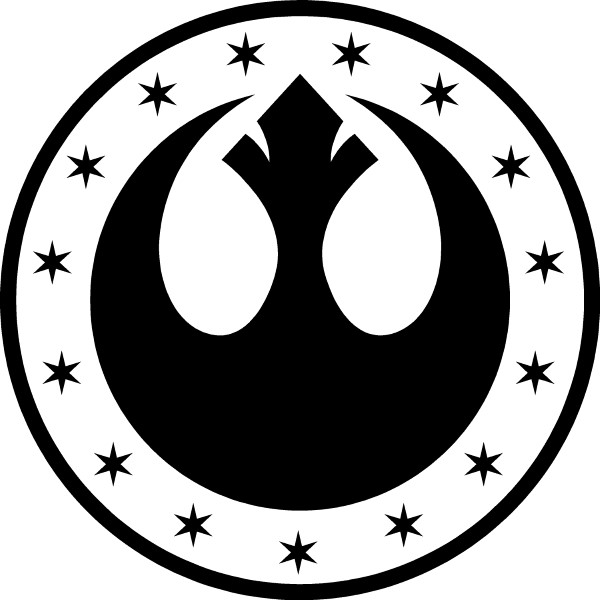 Star wars new republic kalimdor decal sticker 01 - Republic star wars logo ...