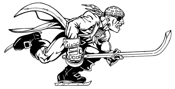 Hockey mascot coloring pages ~ HOCKEY PIRATES MASCOT DECAL/STICKER 1