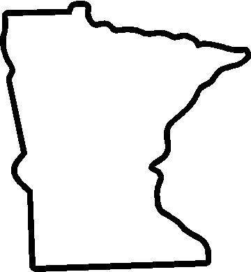 Minnesota State Map Outline