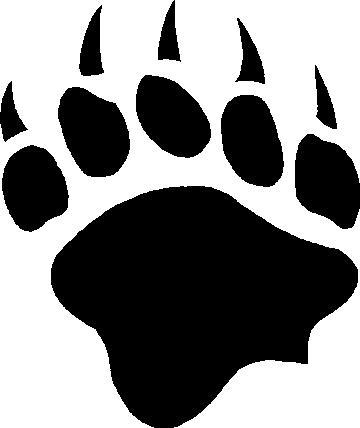 Black bear claw logo