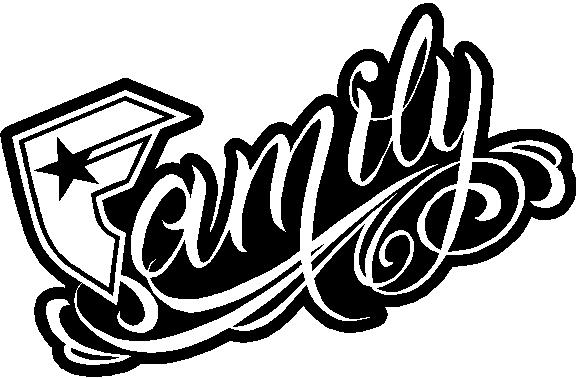 corporate logo decals famous family decal sticker